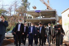 بازدید استاندار فارس از پروژه خوابگاه عشایری شیراز