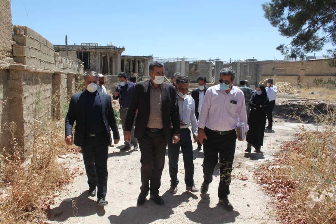 بازدید مدیرکل نوسازی، توسعه و تجهیز مدارس فارس از آموزشگاه های در حال احداث کوار