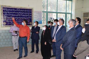 بازدید مدیر کل، معاونین نوسازی مدارس فارس و اصحاب رسانه از مدرسه نمازی شیراز